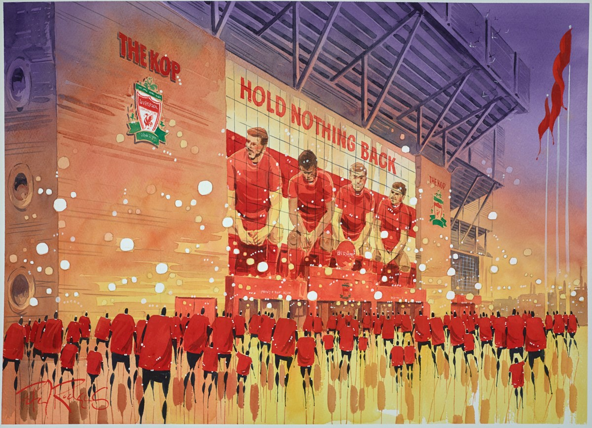 Champions - Liverpool by peter j rodgers -  sized 28x20 inches. Available from Whitewall Galleries